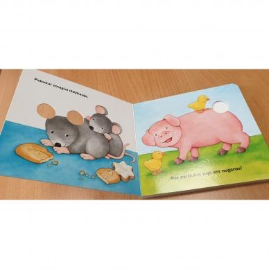 Daug linksmų gyvūnų. Pirmoji pirštukų žaidimų knyga 5