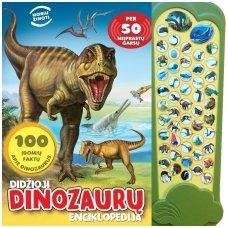 BROKAS!!! Didžioji dinozaurų enciklopedija. Per 50 neįprastų garsų (iš grąžinimų)