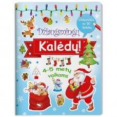 Džiaugsmingų Kalėdų! Užduotėlės su 50 lipdukų. 4-5 metų vaikams