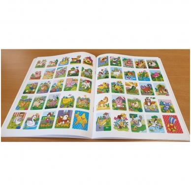 GYVŪNAI. Spalvinimo ir užduotėlių knygelė su 50 lipdukų 3-4 metų vaikams 3