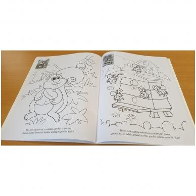 GYVŪNAI. Spalvinimo ir užduotėlių knygelė su 50 lipdukų 3-4 metų vaikams 4