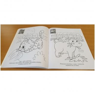 GYVŪNAI. Spalvinimo ir užduotėlių knygelė su 50 lipdukų 3-4 metų vaikams 6