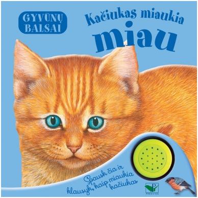 Gyvūnų balsai. Kačiukas miaukia miau