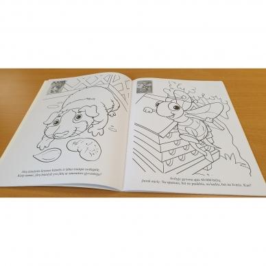 ĮVAIRŪS GYVŪNAI. Spalvinimo ir užduotėlių knygelė su 50 lipdukų 3-4 metų vaikams (BROKAS, PERLENKTOS) 4