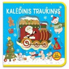 Kalėdinis traukinys. 2-3 metų vaikams (putplasčio knyga)