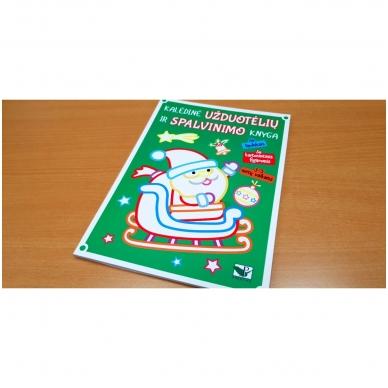 Kalėdinė užduotėlių ir spalvinimo knyga su lipdukais ir kartoninėmis figūromis. 3-5 metų vaikams 2