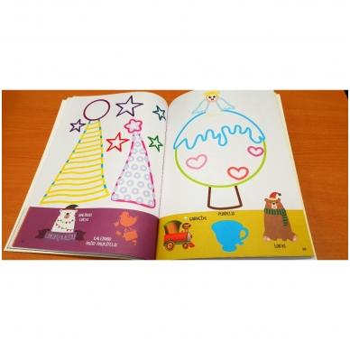 Kalėdinė užduotėlių ir spalvinimo knyga su lipdukais ir kartoninėmis figūromis. 3-5 metų vaikams 5