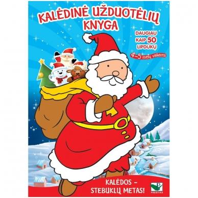 Kalėdinė užduotėlių knyga. Daugiau kaip 50 lipdukų. 4-5 metų vaikams