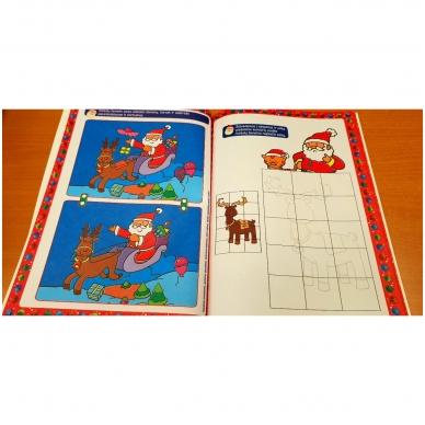Kalėdinė užduotėlių knyga. Daugiau kaip 50 lipdukų. 4-5 metų vaikams 3