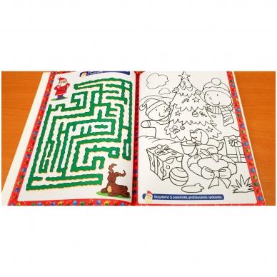 Kalėdinė užduotėlių knyga. Daugiau kaip 50 lipdukų. 4-5 metų vaikams 4