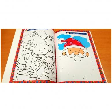 Kalėdinė užduotėlių knyga. Daugiau kaip 50 lipdukų. 4-5 metų vaikams 5