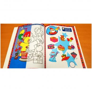 Kalėdinė užduotėlių knyga. Daugiau kaip 50 lipdukų. 4-5 metų vaikams 6