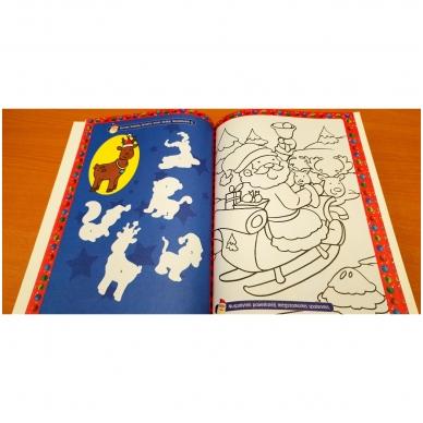 Kalėdinė užduotėlių knyga. Daugiau kaip 50 lipdukų. 4-5 metų vaikams 7