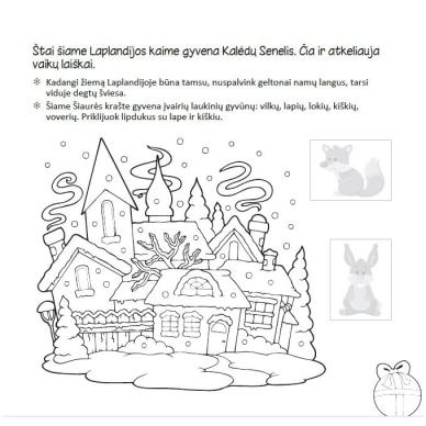 Kalėdinė užduotėlių knygelė 3-5m.vaikams (40 lipdukų) 3