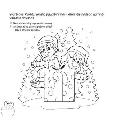 Kalėdinė užduotėlių knygelė 3-5m.vaikams (40 lipdukų) 2