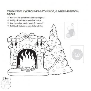 Kalėdinė užduotėlių knygelė 3-5m.vaikams (40 lipdukų) 4
