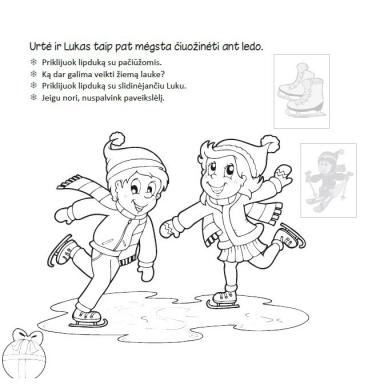 Kalėdinė užduotėlių knygelė 3-5m.vaikams (40 lipdukų) 5