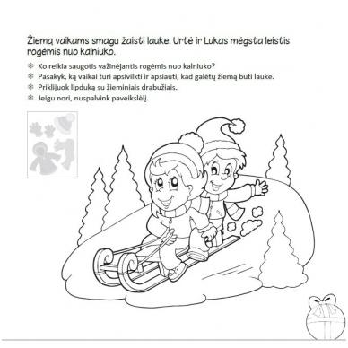 Kalėdinė užduotėlių knygelė 3-5m.vaikams (40 lipdukų) 6