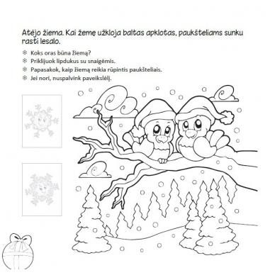 Kalėdinė užduotėlių knygelė 3-5m.vaikams (40 lipdukų) 7