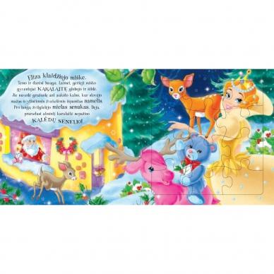 BROKAS!!! Kalėdinės pasakos (rinkinyje 2 knygelės ir dėlionė) (iš grąžinimų) 12