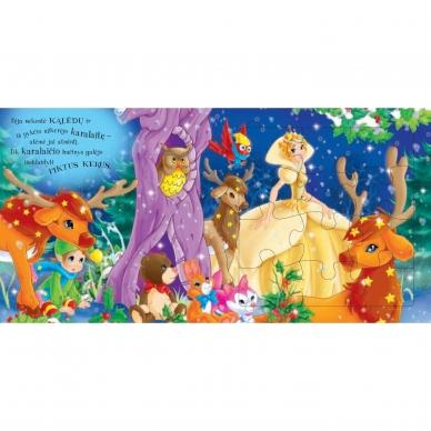 BROKAS!!! Kalėdinės pasakos (rinkinyje 2 knygelės ir dėlionė) (iš grąžinimų) 13