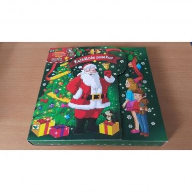 BROKAS!!! Kalėdinės pasakos (rinkinyje 2 knygelės ir dėlionė) (iš grąžinimų) 2