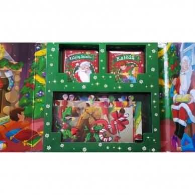 BROKAS!!! Kalėdinės pasakos (rinkinyje 2 knygelės ir dėlionė) (iš grąžinimų) 3