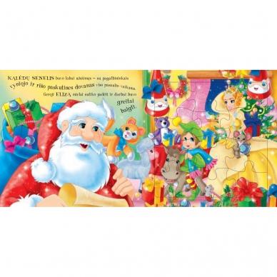 BROKAS!!! Kalėdinės pasakos (rinkinyje 2 knygelės ir dėlionė) (iš grąžinimų) 11