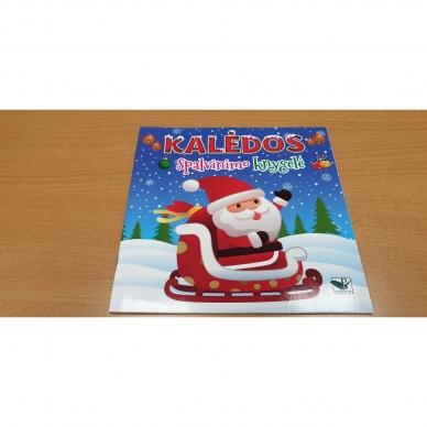 Kalėdinis rinkinys. 2 spalvinimo knygelės, užduotėlių knygelė, 250 lipdukų knygelė ir 6 spalvoti pieštukai (RAUDONAS) 11