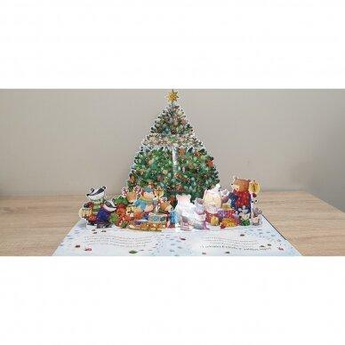 Kalėdinių lobių medžioklė. Su erdvine eglute ir atvartėliais 2