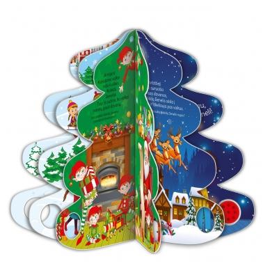 Kalėdų eglutė. Knyga-eglutė su garsais 2-3 metų vaikams 2