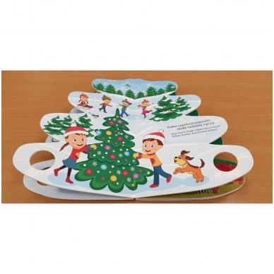 Kalėdų eglutė. Knyga-eglutė su garsais 2-3 metų vaikams 7