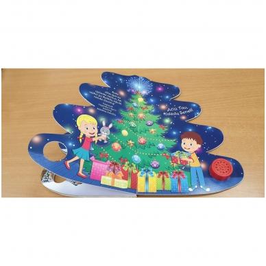 Kalėdų eglutė. Knyga-eglutė su garsais 2-3 metų vaikams 8