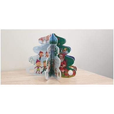 Kalėdų eglutė. Knyga-eglutė su garsais 2-3 metų vaikams 4