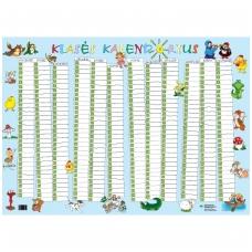 Klasės kalendorius (plakatas) (A1 formato)