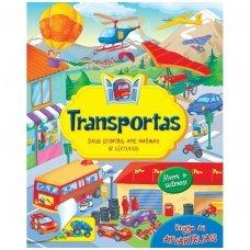 BROKAS!!! Knyga su atvartėliais. Transportas (atvirkščiai įrištas viršelis)