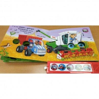 Kokios mašinos padeda ūkyje. 5 mašinų garsai. Mirksintys žibintai 3