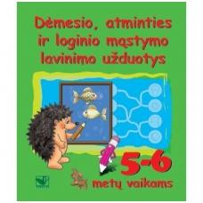 Dėmesio, atminties ir loginio mąstymo lavinimo užduotys 5-6 metų vaikams