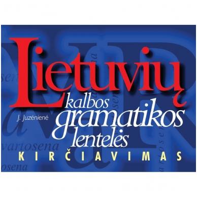 Lietuvių kalbos gramatikos lentelės. Kirčiavimas