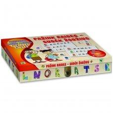 Magnetinis raidžių rinkinys.  Pažink raides – sudėk žodžius