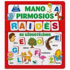 Mano pirmosios raidės SU UŽDUOTĖLĖMIS 4-5 metų vaikams (knyga su 64 putplasčio kortelėmis) (2021 m.)