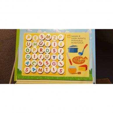 Magnetinis RAIDYNAS su užduotėlėmis. 136 raidės, 28 kortelės, 32 užduotys 11
