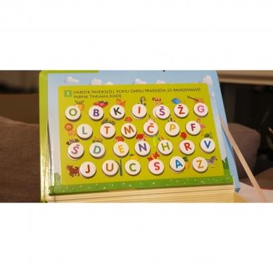 Magnetinis RAIDYNAS su užduotėlėmis. 136 raidės, 28 kortelės, 32 užduotys 13