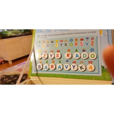Magnetinis RAIDYNAS su užduotėlėmis. 136 raidės, 28 kortelės, 32 užduotys 17