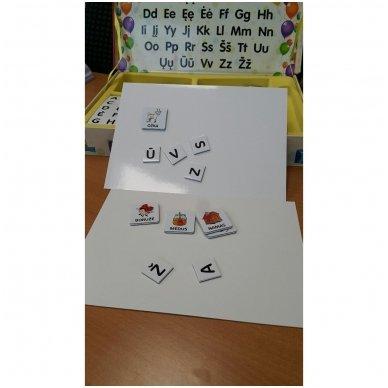 Magnetinis raidžių rinkinys.  Pažink raides – sudėk žodžius 4