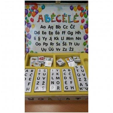 Magnetinis raidžių rinkinys.  Pažink raides – sudėk žodžius 3