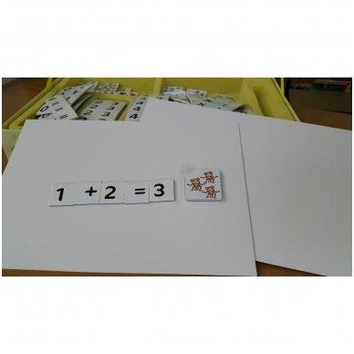 Magnetinis skaičių rinkinys. Pažink skaičius 4