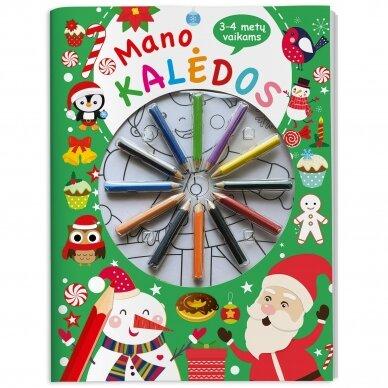 Mano Kalėdos. 3-4 metų vaikams. Su 12 pieštukų