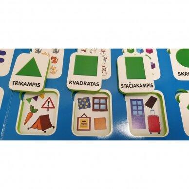 Mano pirmieji skaičiai SU UŽDUOTĖLĖMIS 4-5 metų vaikams (knyga su 64 putplasčio kortelėmis) 5