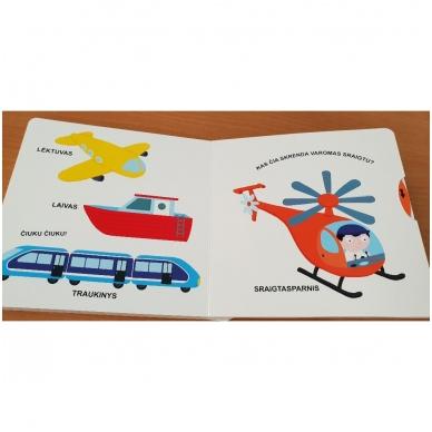 Mano pirmoji knygelė. TRANSPORTAS. Su judančiais elementais. 1-2 m.vaikams. 3